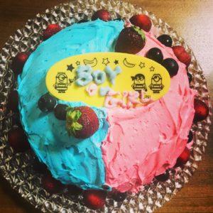 性別判明ケーキ